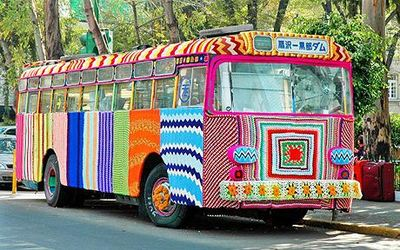 Bus_yarnbombed