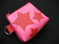 pink puch with red star motif