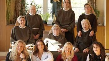 The nuns and their guests (c) BBC