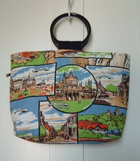 Back view of bag made from Sussex teatowel