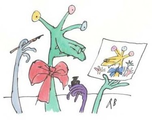 A frabjous beast, by Quentin Blake