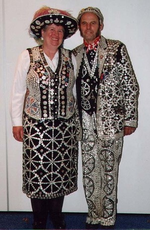 A Pearly Queen and King. Photo (c) London Pearly Kings and Queens Society, www.pearlysociety.co.uk