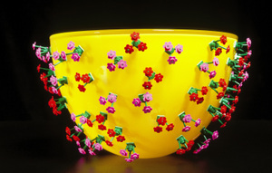 Yellow Bloomin' Bowl by Marie Worre Hastrup Holm,  2006. Photo: Ester Segarra