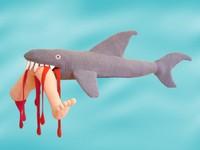 Knitted shark via www.yumlum.com/galleries/knitwear/knitwear_art.htm