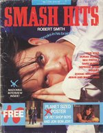 1987 Smash Hits magazine cover,  featuring Robert Smith of The Cure, via homepage.ntlworld.com/warren.swaine/cure.htm