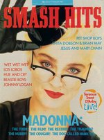 Smash Hits magazine cover, 29.7.87 featuring Madonna. Via www.madonnalicious.com