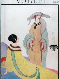 Cover of November 1919 edition of British Vogue. Artwork by Helen Dryden